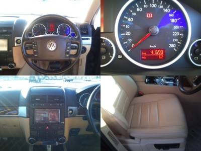 Touareg V6 Beige Leather Seats